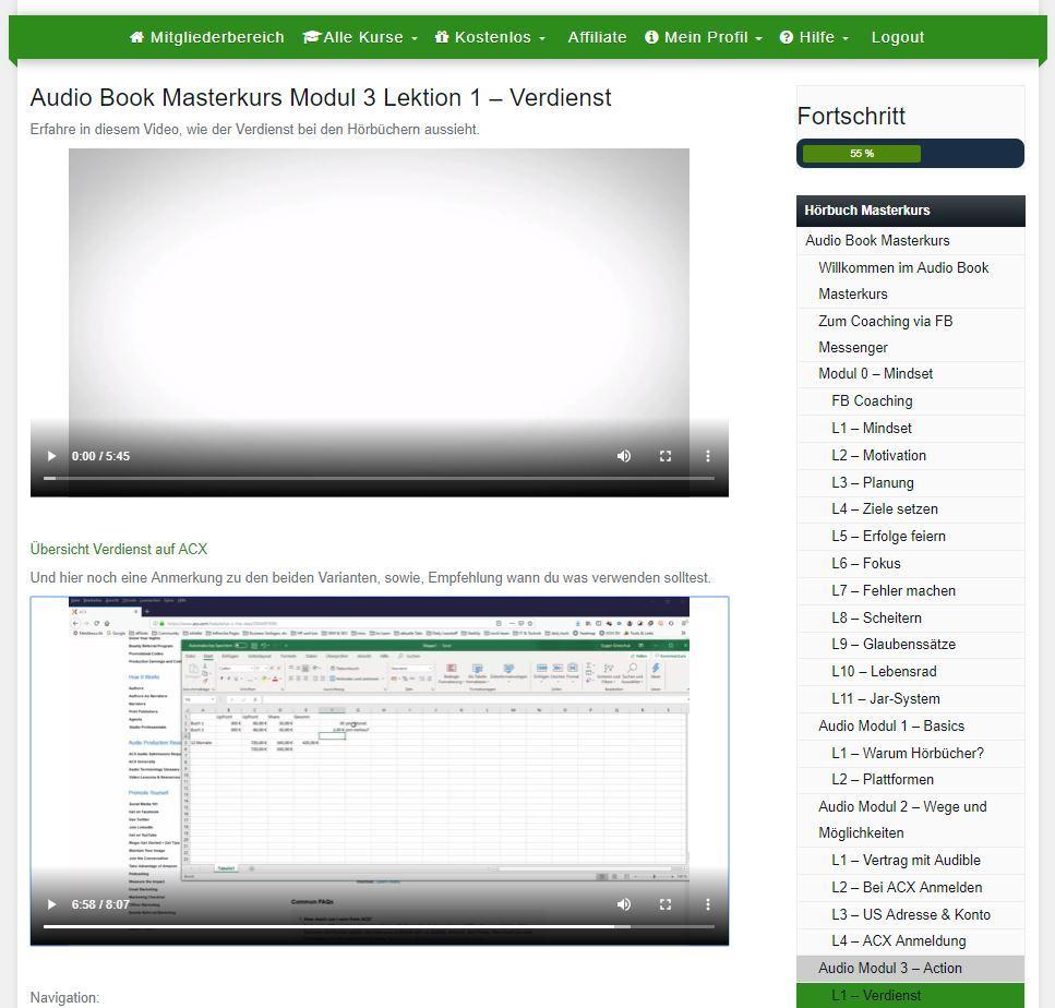 Incomebutler - Selfpublishing Masterkurs - Spannend - der Verdienst im Audio-Kurs.