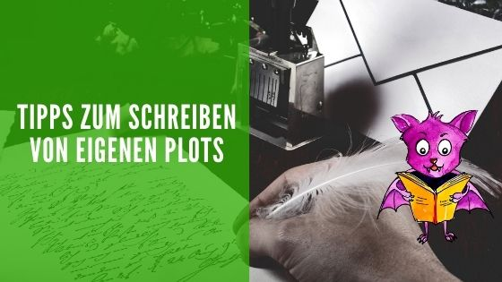 Von der Idee zum eigenen Buch - Warum das Plot schreiben sinnvoll und wichtig ist. Auf dem Foto: Ein Autor plottet mit einer Feder.